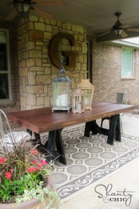How To Make A Pottery Barn Inspired Dining Table For $85