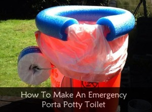 How To Make An Emergency Sanitation Porta Potty Toilet
