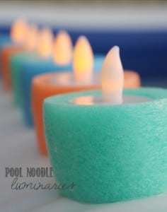 How To Make Pool Noodle Luminary Candles