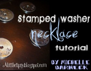 How to Make Stamped Washer Necklaces