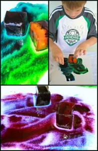 How To Make Watercolor Ice Art