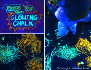 How To Make Your Own Glowing Chalk