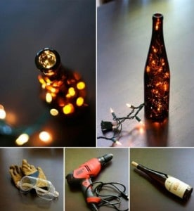 How To Transform Wine Bottles Into Lanterns