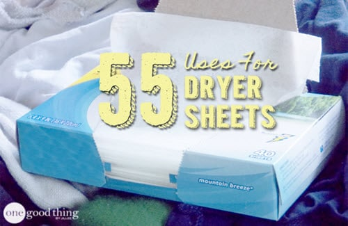 55 Ways To Reuse, Re-Purpose And Recycle Dryer Sheets