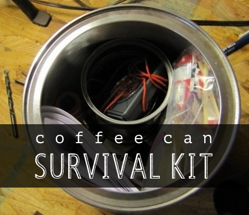 Coffee Can Survival Kit For Your Car Homestead Amp Survival