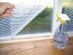 DIY Bubble Wrap Window Insulation