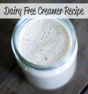 DIY Dairy Free Creamer Recipe