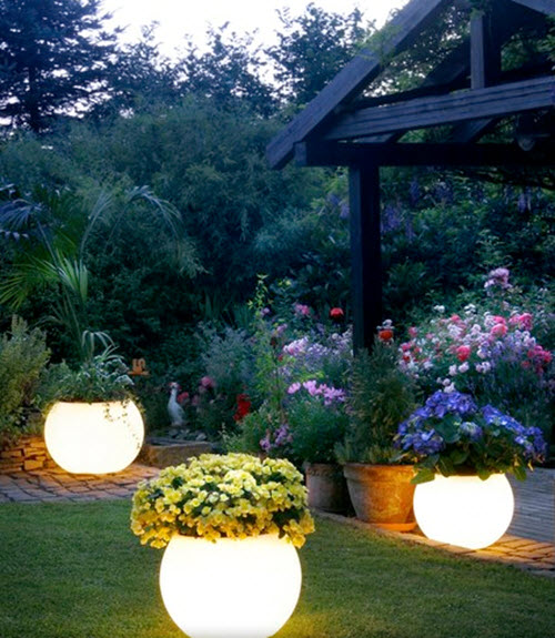DIY Glow In The Dark Outdoor Planters