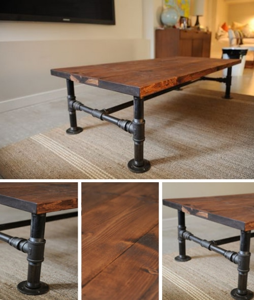 Diy industrial coffee table homestead survival for Diy coffee and end tables