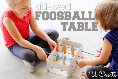 DIY Kids Foosball Table