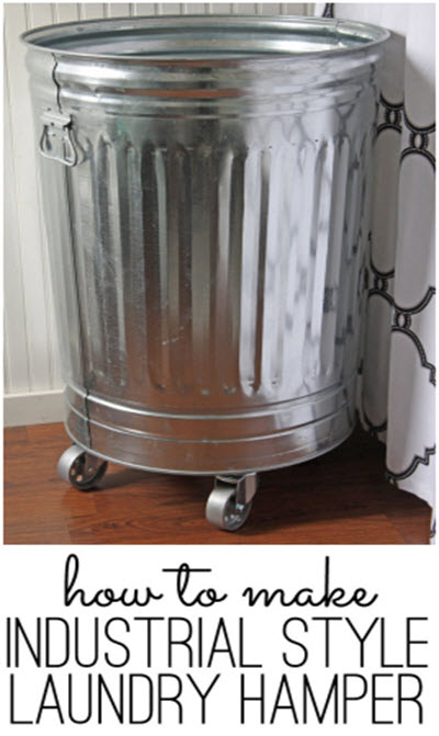 How To Build An Industrial Style Laundry Hamper
