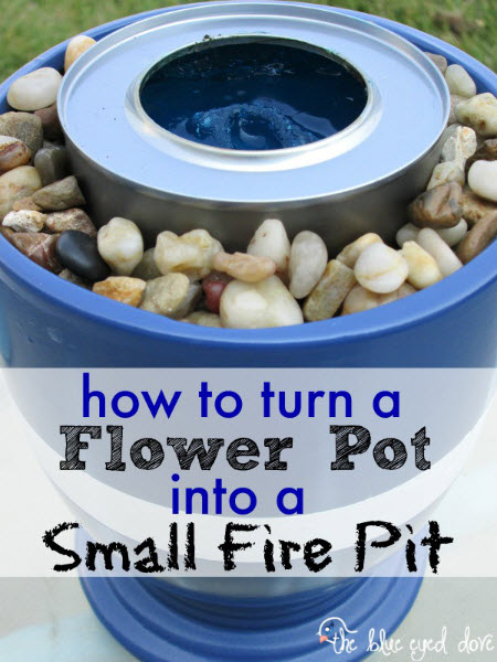 How To Turn A Flower Pot Into A Small Fire Pit