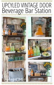 How To Turn An Old Door Into A Beverage Bar Station