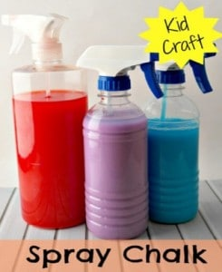 Kids Activity – How To Make Spray Chalk Paint