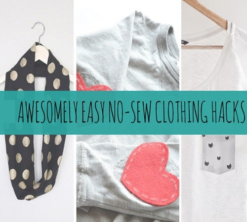 41 Awesome Easy No-Sew DIY Clothing Hacks