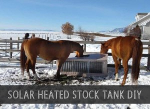 Build A Solar Heated Stock Tank