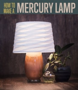 Copper Mercury Glass Lamp DIY
