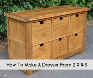 DIY Dumpster Dresser From 2x4s