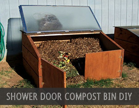 DIY Shower Door Compost Bin