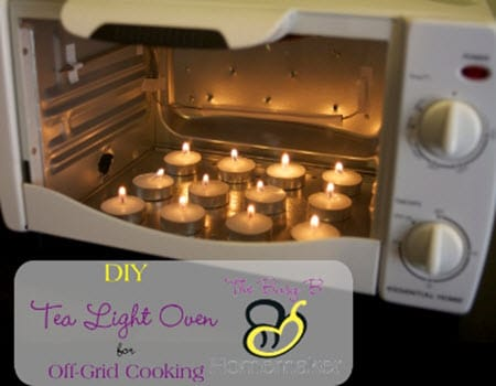 DIY Tea Light Oven For Off-Grid Cooking