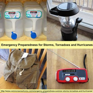 Emergency Preparedness For Storms, Tornadoes And  Hurricanes