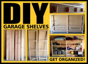 Garage Shelves DIY – How to Build A Shelving Unit With Wood