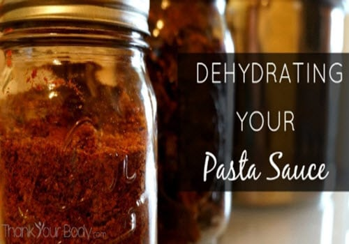 How To Dehydrate Pasta Sauce
