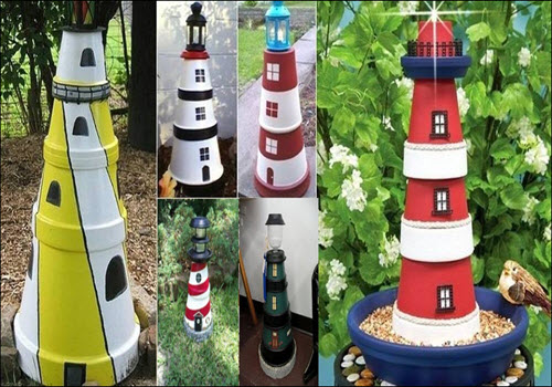 How To Make A Lighted Clay Pot Lighthouse