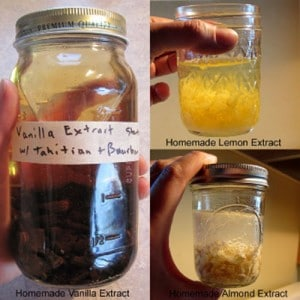 How To Make Homemade Extracts – Vanilla, Lemon And Almond