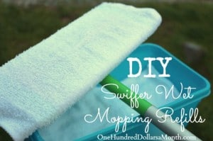 How To Make Your Own Swiffer Wet Mop Refills