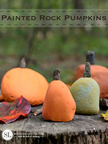 Painted Rock Pumpkins – Fall Kids Pumpkin Craft Ideas