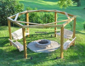 Porch Swing Fire Pit DIY