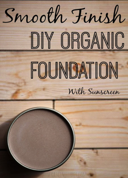 Smooth Finish DIY Organic Foundation Makeup With Sunscreen
