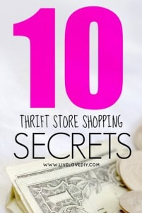 Thrift Store Shopping Secrets