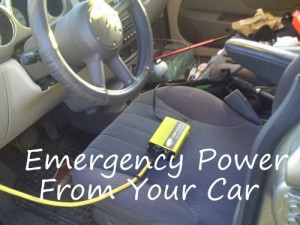 Emergency Power From Your Car