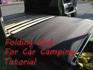 Folding Bed For Car Camping Tutorial