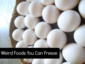Weird Foods You Can Freeze