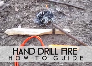 Hand Drill Fire Starting Method
