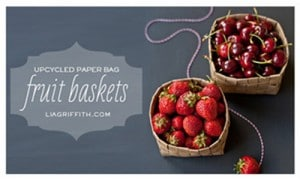 Grocery Bag Fruit Baskets DIY