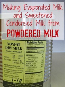 Making Evaporated Milk From Powdered Milk Guide