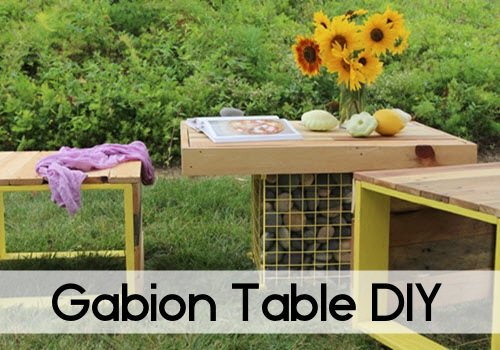 Pallet Wood Bench And Gabion Table DIY