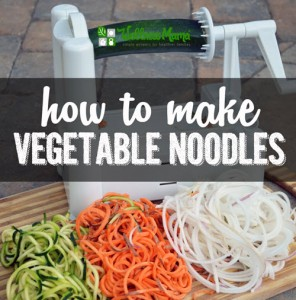 How To Make Vegetable Noodles