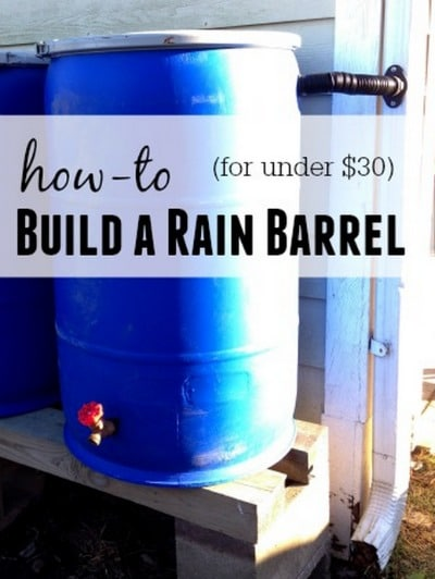 how to build a 3 drum rainwater collection tank system