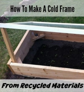 How To Make Cold Frames From Recycled Materials