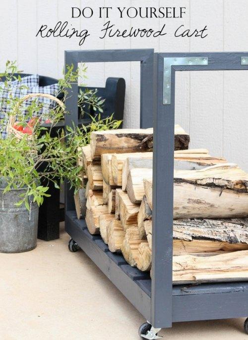 diy-rolling-firewood-cart