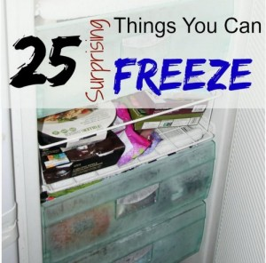 25 Surprising Foods You Can Freeze