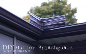 DIY Gutter Splashguard