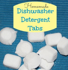 Homemade Dishwasher Detergent Tabs Recipe