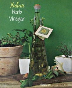 DIY Italian Herb Vinegar