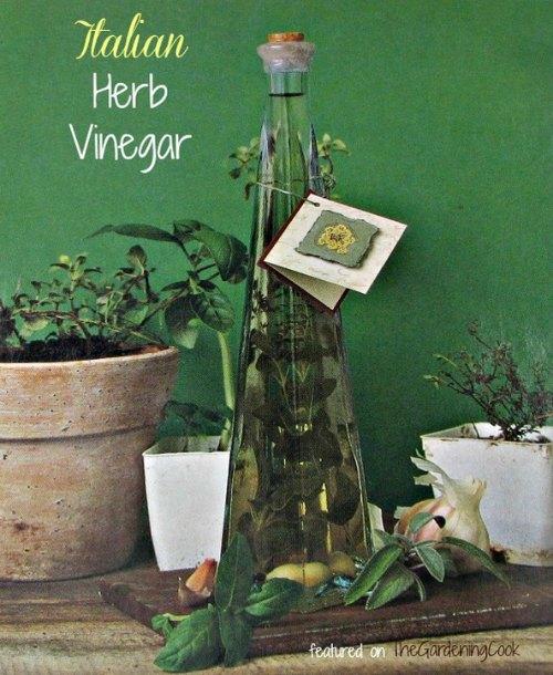 DIY Italian Herb Vinegar